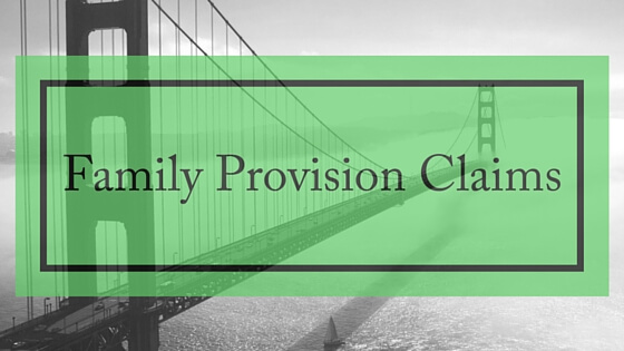 family provision claims