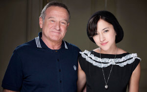 Robin Williams and daughter Zelda.