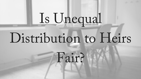 Is Unequal Distribution to Heirs Fair- (2)