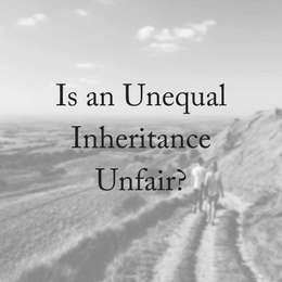 Is an Uneven Inheritance Unfair?