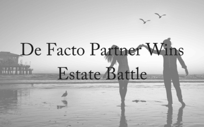 De Facto Partner Wins Estate Battle